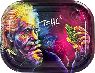Metal Rolling Tray, T=HC2 Einstein Design by V Syndicate, Small (Available in 2 Sizes)