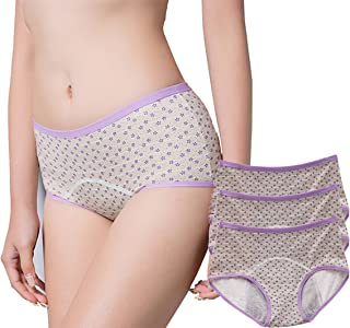 ce6ecaafb9a3 3 Pack Lace Postpartum Underwear & Girl's Menstrual Period Leakproof  Protective Panties Full Coverage Briefs