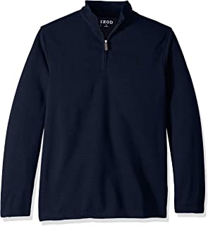 IZOD Men's Big and Tall Premium Essentials Spectator Quarter Zip Fleece Pullover
