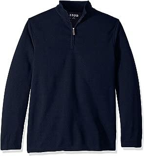 IZOD Men's Big and Tall Premium Essentials Spectator Quarter Zip Fleece Pullover