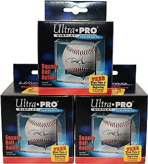 Display Series 3 Ultra Pro Square BASEBALL DISPLAY Holder w/Stand New Lot Set [3 Baseball Cubes]
