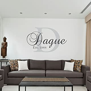 monogram wall stencil
