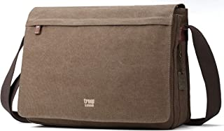 Canvas Messenger Bag Fits Up To 17 Inch Laptop Size Large TRP0371