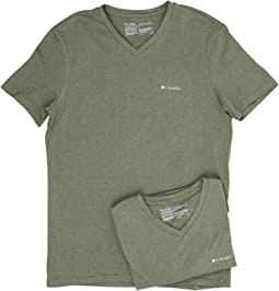 Columbia - Performance Cotton V-Neck T-Shirt 2-Pack