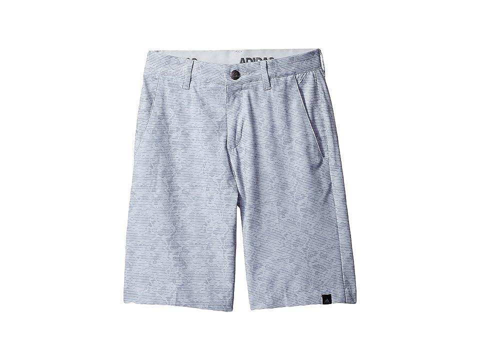 Image of adidas Golf Kids Ultimate 365 Camo Shorts (Big Kids) (Mid Grey) Boy's Shorts
