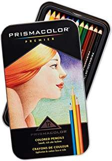 Prismacolor 3596T Premier Colored Pencils, Soft Core, 12 Count