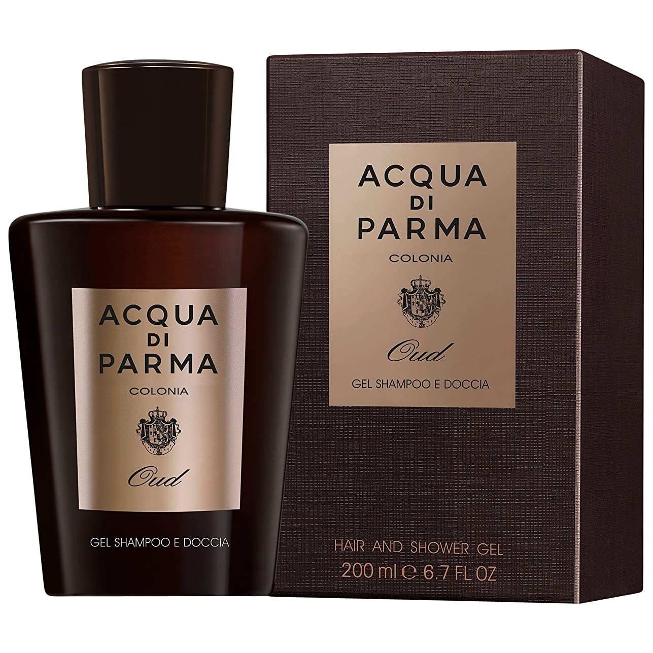 再編成する廃棄順応性アクア?ディ?パルマコロニアウードシャワージェル150ミリリットル (Acqua di Parma) (x2) - Acqua di Parma Colonia Oud Shower Gel 150ml (Pack of 2) [並行輸入品]
