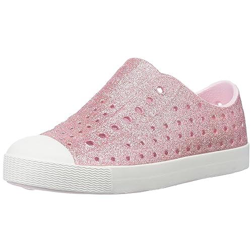 1f34405ee8b1 Native Shoes Girls  Jefferson Bling Flat Milk Pink Shell White 5 M US  Toddler