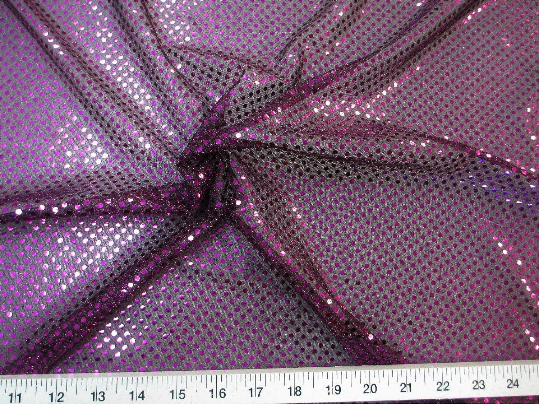 10 Yard Lot Fabric Stretch Glitter Max 77% OFF Black Max 84% OFF Dots Mesh Pu and Sequin