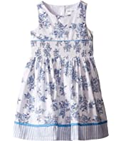 Us Angels - Cotton Poplin Tank Dress w/ Smock Waist & Full Skirt (Toddler/Little Kids)