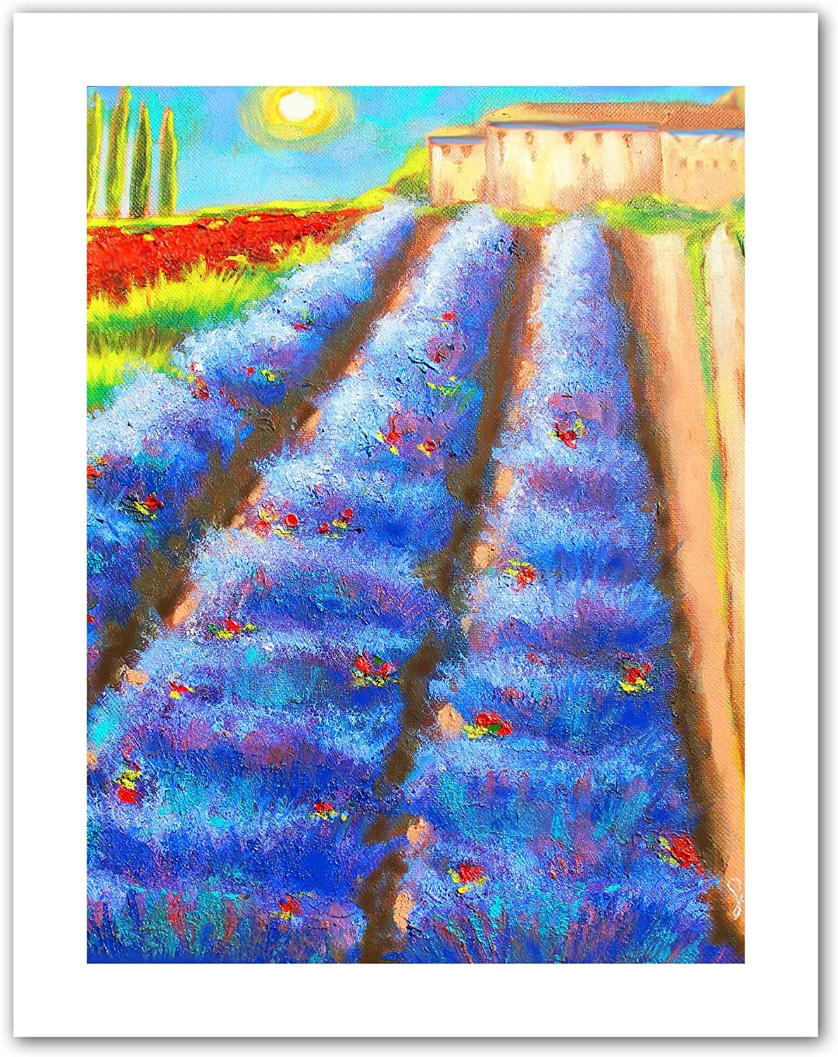 Art Wall Provence Rows Unwrapped Canvas Art by Susi Franco, 28 by 22Inch