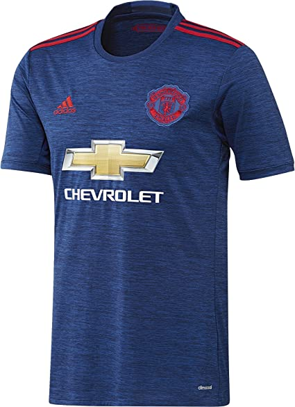 amazon com adidas manchester united fc official 2016 17 ss away jersey adult royal red clothing adidas manchester united fc official 2016 17 ss away jersey adult royal red