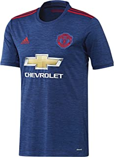 adidas Manchester United FC Official 2016/17 SS Away Jersey - Adult - Royal/Red -