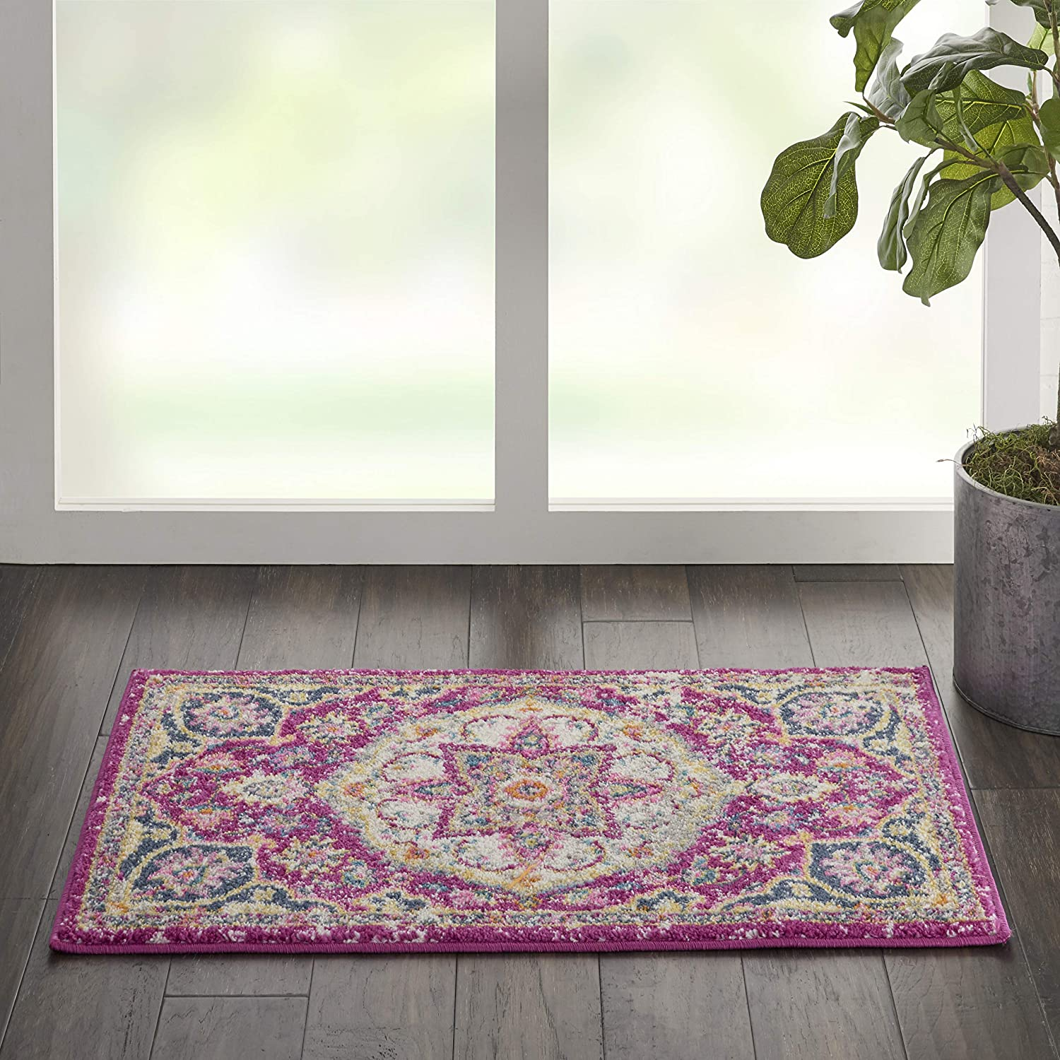 discount Nourison Passion Pink Traditional Persian Vintage 1'10 Area Rug Oakland Mall