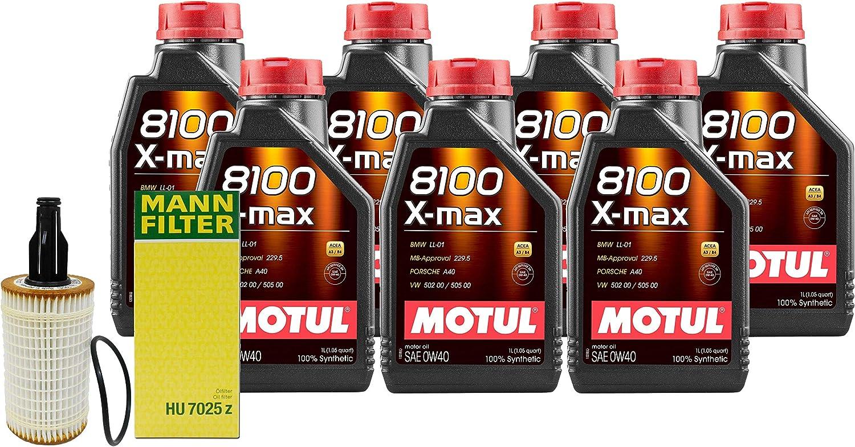 Newparts 7L 8100 Xmax Max 55% OFF 0W40 Filter C207 Kit Motor Oil A207 Arlington Mall Change