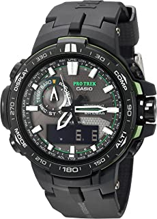 Casio Mens Pro Trek PRW-6000Y-1ACR Solar Powered Black Analog-Digital Sport