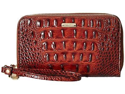 Brahmin Melbourne Zora Wristlet (Pecan) Handbags