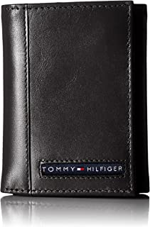 ed3dfe5a4 Tommy Hilfiger Men's Trifold Wallet-Sleek and Slim Includes ID Window and  Credit Card Holder