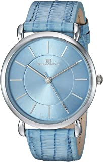 Oceanaut Women's Alma Stainless Steel Quartz Watch with Leather Strap, Blue, 19 (Model: OC2212)