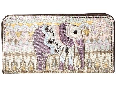 Sakroots Artist Circle Slim Wallet (Pastel One World) Wallet Handbags