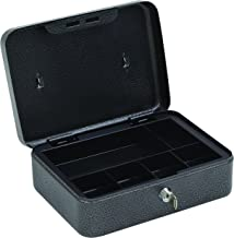 Hercules CB1007 Key Locking Cash Box with 6 Compartment Tray, 9.8