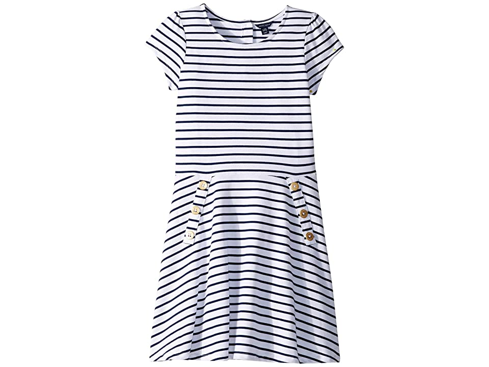 Tommy Hilfiger Kids Yarn-Dye Stripe Dress (Big Kids) (Flag Blue) Girl