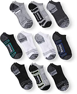 Tony Hawk Boys 10 Pack Half Cushion No Show Socks, Multi-Color, 6-8 (Age 2-6)