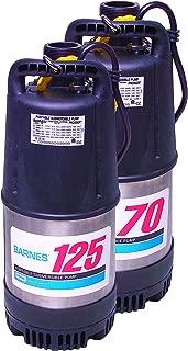 Barnes Model 126 Submersible Dewatering Pump – 1-1/4-HP, 6,300 GPH, 240/1Ph, 50' Cord, Automatic