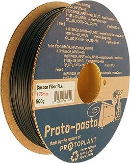 Proto-Pasta CFP11705ザ・オリジナルカーボンファイバースプール、PLA 1.75ミリメートル、500グラム、黒