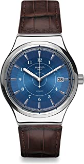Men's Digital Quartz Watch with Leather Strap YIS404
