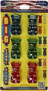 GIANT GUMMY BEAR Big Bear Six Pack- Cherry/Blue Raspberry/Apple