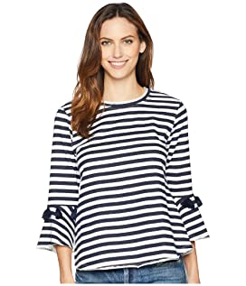 Brielle Striped French Terry Top