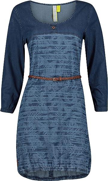 Alife And Kickin Dojaak Long Frauen Mittellanges Kleid Blau Basics Casual Wear Streetwear Amazon De Bekleidung