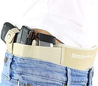 ComfortTac Ultimate Belly Band Holster - Deep Concealment Edition - Nude | Fits Glock 19 43 26 Smith and Wesson MP Shield Bodyguard Ruger LC9 Sig Sauer More | Carry IWB OWB Appendix