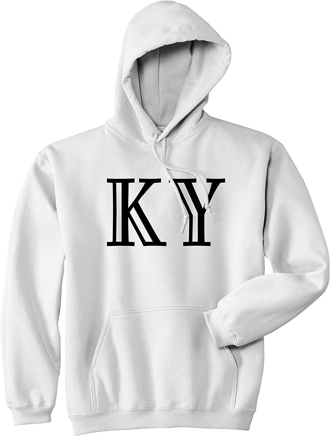 KY Kentucky High Fashion Typography State Mens Pullover Hoodie Hoody