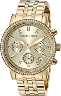 Michael Kors Womens Quartz Watch, Chronograph Display and Stainless Steel Strap MK5698