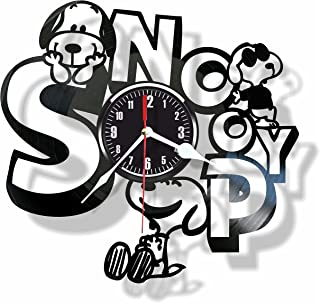 Rosidesignstudio Snoopy Vinyl Wall Clock - Unique Home Decor - Great Gift for Someone Special for You - Beautiful idea for a Kids Room Interior