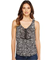 Lucky Brand - Black & White Printed Tank Top