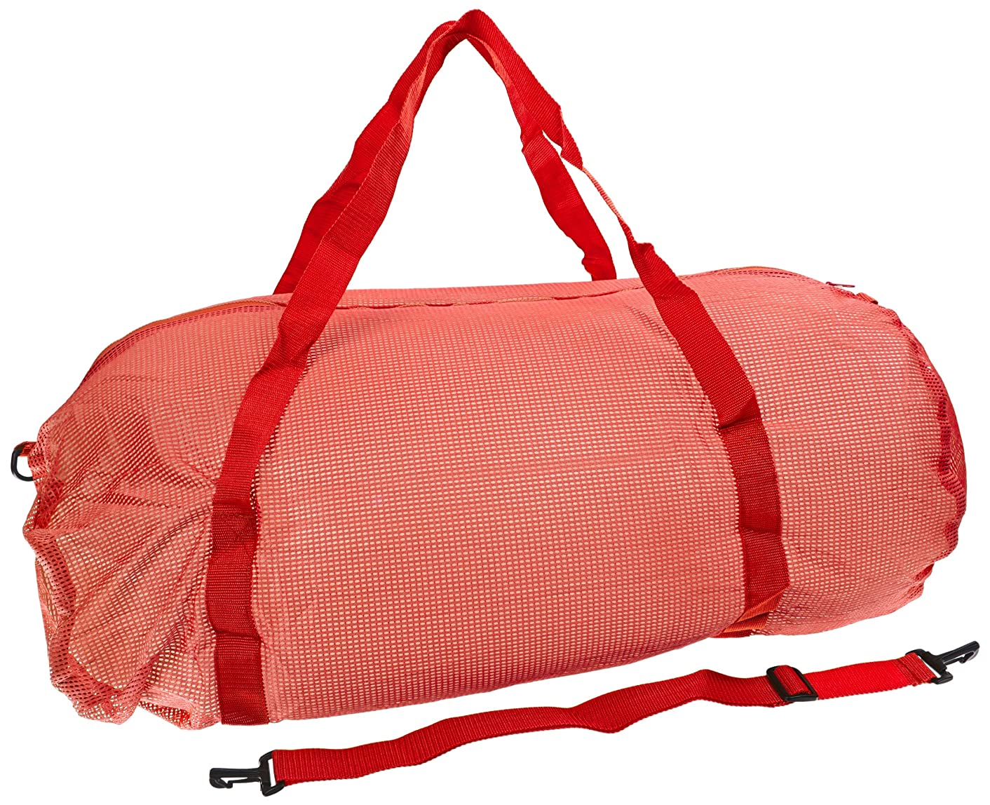 Sportime Oversized Mesh Duffel Bag - 36 x 15 inches - Red