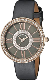 Stuhrling Original Women's Quartz Watch With Grey Dial Analogue Display and Grey Leather Strap 566.059999999999