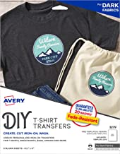 Avery Printable Heat Fabric Transfer Paper for DIY Projects on Dark Fabrics — Make..