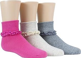 Girls' 3-Pack Turncuff Socks