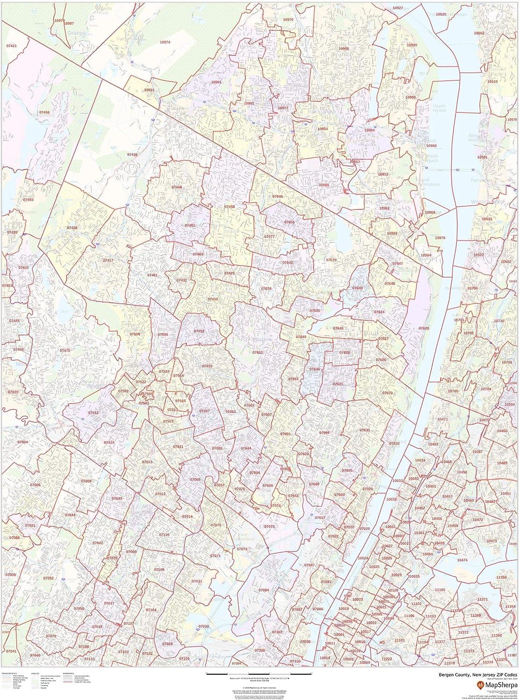 Bergen County New Jersey Zip Codes SALENEW very popular - Trust 48