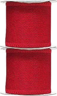 Best red burlap ribbon Reviews