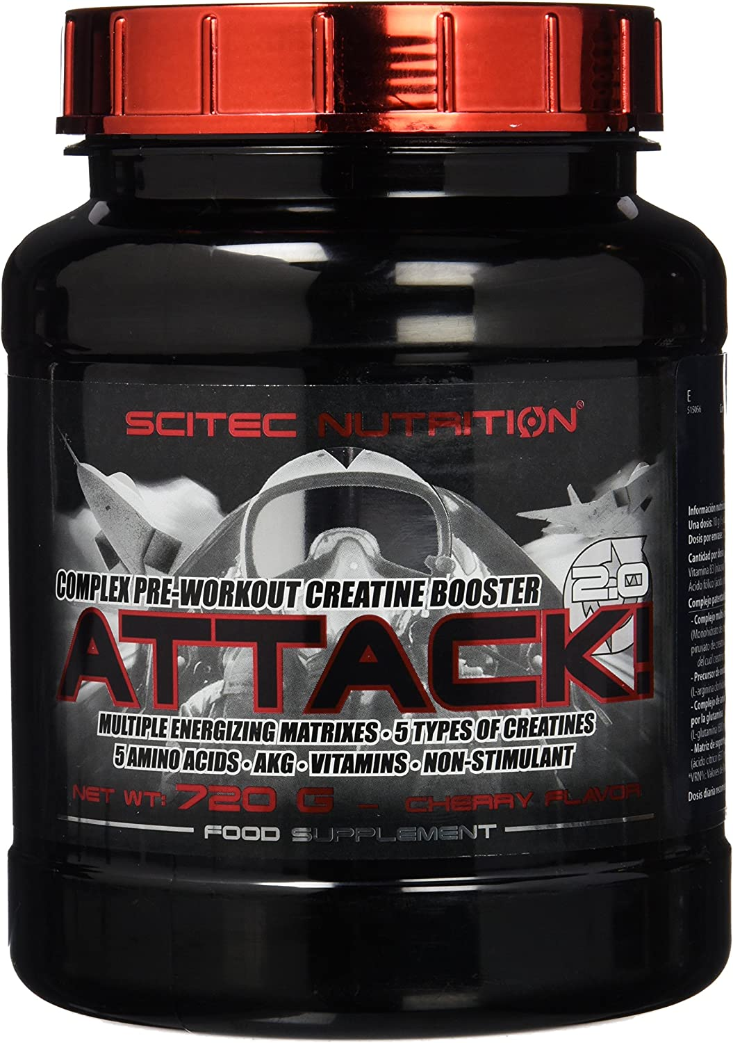 Attack 2.0-1.587 lbs - Cherry nutrition Scitec famous New Shipping Free Shipping