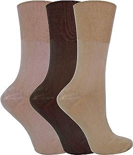 3 Pack Womens Anti Sweat Moisture Wicking Loose Soft Top Non Elastic Bamboo Socks
