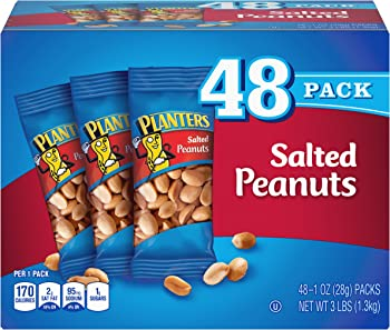 48-Pack Planters Salted Peanuts (1.5 Ounce)