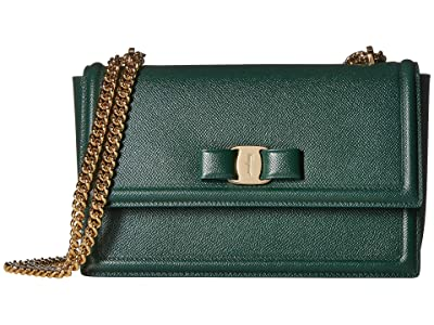 Salvatore Ferragamo Ginny Crossbody (Pine) Handbags