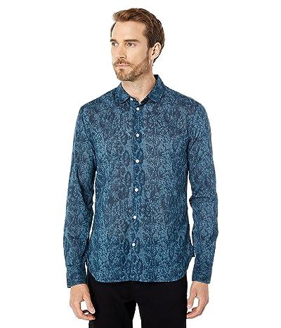 John Varvatos Star U.S.A. Ross Slim Fit Long Sleeve Sport Shirt Bluff Edge Shirt Tail Hem W675X1B