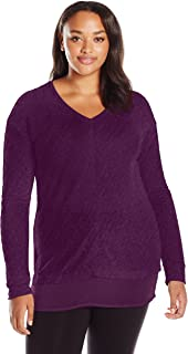Just My Size Women's Plus Size Lightweight V-Neck Tunic